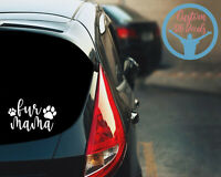 Fur Mama, Dog Mom, Fur Mom, Vinyl Sticker, Yeti Cup Decal, Cute Car Animal Decal