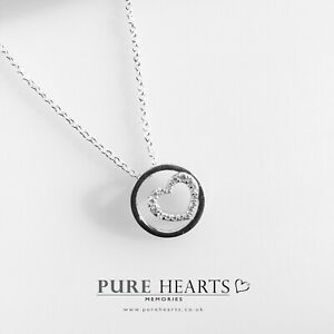 925 Sterling Silver Heart Necklace Small Pretty Dainty Infinity Love