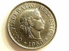 1959-B Swiss Five (5) Rappen Coin
