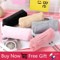 Plush Pencil Case Girls Pencil Bag Stationery Cute School Supplies+GIFT
