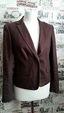 Calvin Klein 100% Linen Brown Blazer Formal Jacket One button  Size 6 UK