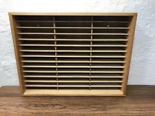 Vintage Napa Valley Box Company Wood 42 Slot VHS Video Tape Storage Wall Hanging
