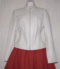 Direct Factory Outlet Leather Ivory Cropped Women Jacket Bomber Women Size:6