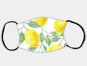 Lively Lemons Adjustable Face Mask with 2 x PM2.5 Filters
