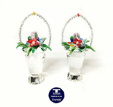 "[NEW] ""Tall Flowers Basket"" Austrian Crystal FIgurine"