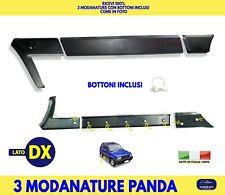 Modanature Fiat Panda Hobby Fasce paracolpi paraurti DX DESTRA plastiche nero in