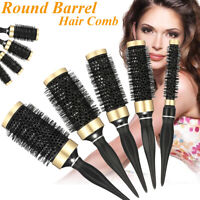 5Size Pro Round Bristle Hair Comb Hairdressing Salon Barber Styling Roller Brush