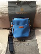 TRUSSARDI Sac Homme Men Shoulder Messenger Bag - Made in Italy - Authentique
