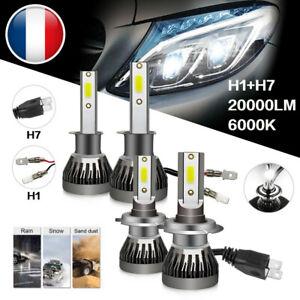 4PC H1+H7 110W 20000LM CREE LED Ampoule Voiture Feux Lampe Kit Phare Xenon 6000K