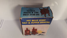 VINTAGE ARTMARK POT BELLY STOVE SALT & PEPPER SHAKERS WITH BOX