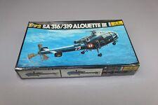 ZF544 Heller 1/72 maquette helicoptere gendarmerie 225 SA316 / 319 ALOUETTE III