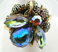 NEW SWEET ROMANCE OLLIPOP EXOTIC BEE ADJUSTABLE RING ~~BIG & BOLD~~BLUE