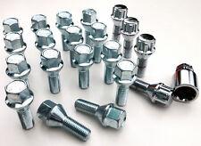 20 x alloy wheel bolts inc locking M12 x 1.5 17mm Hex, taper, 26mm thread - Saab