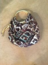 ED HARDY FULLY LINED ROUND TOTE BAG