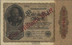 German Empire Rosenbg: 110e, Privatfirmendruck Green Kontrollnummer, black FZ us