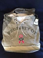 NFL New York NY Jets Property Of Hoodie Duffel Tote Bag Purse Grey Pink
