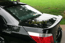 Painted A Trunk & Roof Spoiler Lip For 2004-2010 BMW E60 4Dr 668 Black