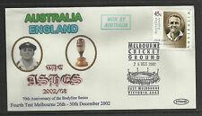 AUSTRALIA v ENGLAND ASHES 2002/03 SERIES 4th TEST MATCH MELBOURNE COVER