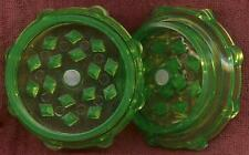 """NEW 2"""" ACRYLIC 2 PIECE HERB SPICE TOBACCO GRINDER MAGNETIC SHARP TEETH"""