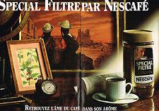 PUBLICITE ADVERTISING  1982   NESCAFE  café soluble ( 2 pages)