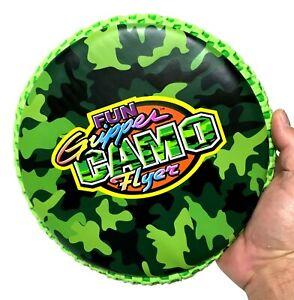 "Fun Gripper (Camo) Green 9"" (Soft) Flyer -Flying Disc - Frisbee - Reversible"