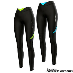 Ladies Women's Cycling Compression Tights with 10mm Coolmax Pad