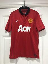 2013-14 Manchester United Home Shirt - Medium -*Ronaldo JR 7 On Back*