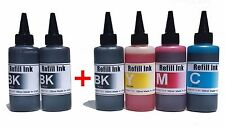Extra Black 600ml Bulk refill ink + Needles HP Canon Brother Dell Epson printer