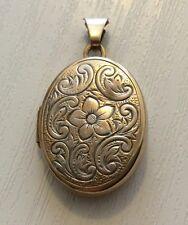 Lovely Ladies Vintage 9ct Gold Locket Pendant Pretty