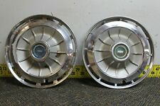 "OEM Set of 2 14"" Hub Cap Wheel Cover 1962 Chevrolet Impala Biscayne Bel Air(2347"
