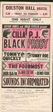 CILLA BLACK & PJ PROBY (1965) HANDBILL and AUTOGRAPHS