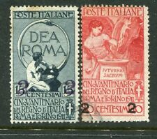 Italy. 1913 surcharges x2 different used