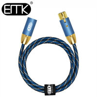 EMK Amplifier 3-Pin Audio XLR Cable Balanced Lead Male to Female Speaker 3ft 5ft