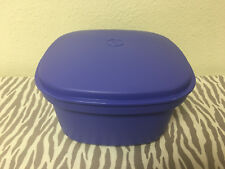 """Tupperware Microwave Steamer 3 Piece Square 9"""" x 9"""" Microwaveable Blue New"""