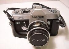 Canon FT QL 35mm Camera with 50mm f/1.8 Lens, UV Filter, Case - Vintage (C6)