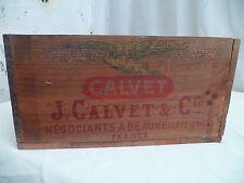 Ancienne caisse a vin vide Calvet cote-d'or vers années 1950/60