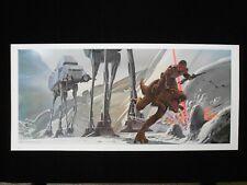 Vintage Star Wars 1980 ESB Ralph McQuarrie Print #12 Lukes Flees on Tauntaun