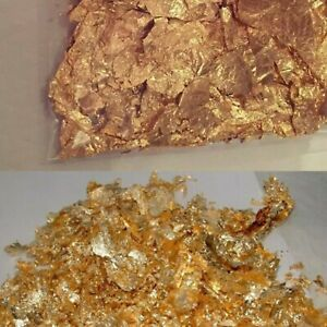 Gold Flake Leaf Festival Chunky Glitter Golden Craft Gem Holo Beach Party Deco