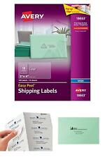 """Avery Clear Easy Peel Shipping Labels For Inkjet Printers 2"""" X 4"""", Pack Of 100 ("""