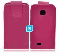 COVER PELLE pr SAMSUNG GALAXY NEXT TURBO S5570 S5570i FLIP CUSTODIA ROSA PINK