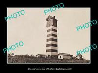 OLD LARGE HISTORIC PHOTO OF ROYAN FRANCE, THE ST PIERRE LIGHTHOUSE c1880