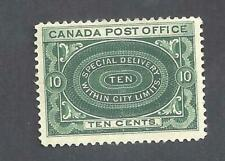 Canada YR 1898 SPECIAL DELIVERY SCOTT E1a DARK GREEN SHADE FVF MINT NH (BS19972)
