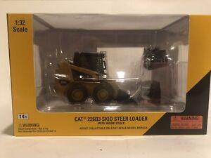 Conrad NZG Norscot Caterpillar Cat 226B Skid Loader With Work Tools 55268