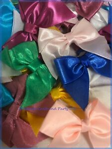 "50 Satin Ribbon Bow Flower 1 3/4"" Applique Sewing Bow Craft Mix Color 231-6"