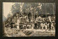 Mint Vintage Chinese Funeral Procession Real Photo Postcard RPPC