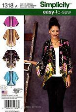 Simplicity Sewing Pattern 1318 Women's XXS-XXL easy-to-sew Kimono Jackets