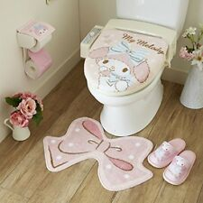 Set 4! Sanrio My Melody toilet cover & mat & slippers & paper holder Kawaii F/S