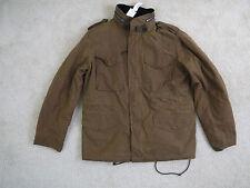 $368 Wallace & Barnes waxed cotton M-65 jacket Large Item E1288 NWT!