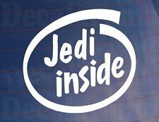 JEDI INSIDE Funny Car/Van/Bumper/Window Vinyl Sticker - Ideal For Star Wars Fans