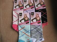 Ladies cotton blend trainer socks/liners sizes 3-5 or 5-7 by Leonfit criss cross